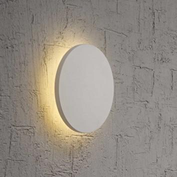 Aplique de pared o techo LED redondo 13cm blanco