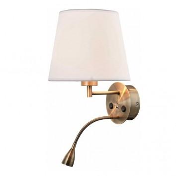 Aplique de pared bronce con lector LED y USB