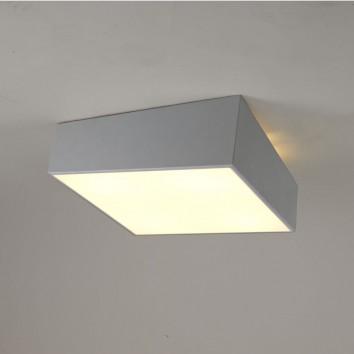 Plafón de techo asimétrico cuadrado plata 45cm
