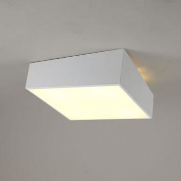 Plafón de techo asimétrico cuadrado blanco 45cm
