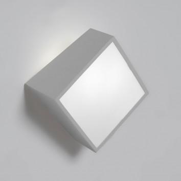Aplique de pared asimétrico cuadrado plata