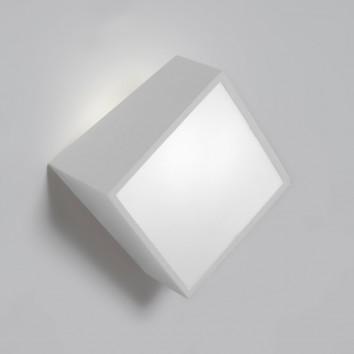 Aplique de pared asimétrico cuadrado blanco