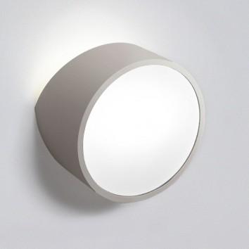 Aplique de pared asimétrico redondo plata