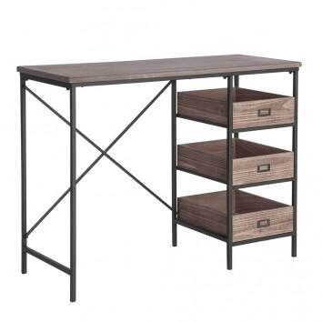 Escritorio industrial hierro y madera - 100x40x77h