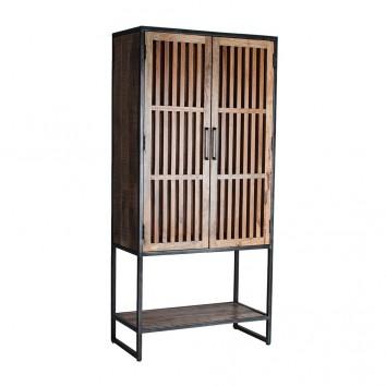 Armario estilo industrial hierro y madera - 90x45x195h