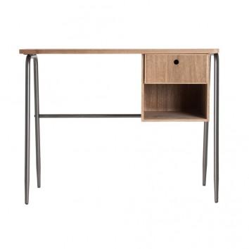 Escritorio estilo industrial hierro y madera - 100x48x79h