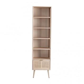 Librería estilo vintage madera natural - 46x30x179h