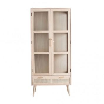 Vitrina estilo vintage madera natural - 72x40x158h