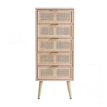 Sinfonier estilo vintage madera natural - 42x36x100h