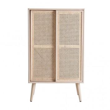 Mini armario vintage madera natural - 60x39x101h