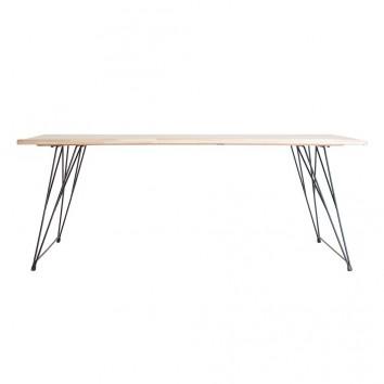 Mesa de comedor estilo industrial hierro y madera - 200x90x76h