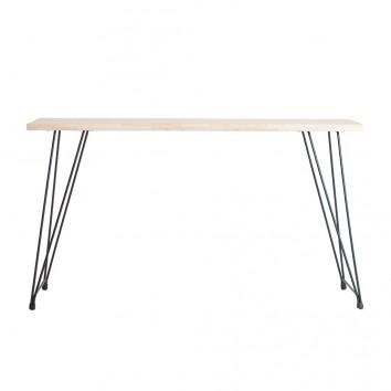 Consola estilo industrial madera y hierro - 140x39x79h