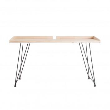 Escritorio estilo industrial madera de abeto y hierro - 142x61x78h