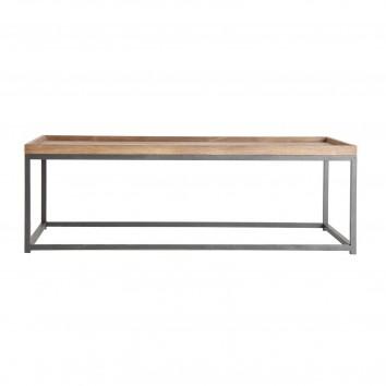 Mesa de centro estilo industrial hierro y madera - 120x60x40h