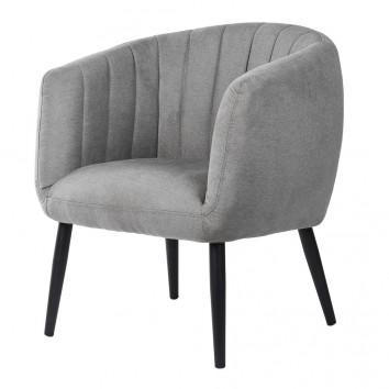 Butaca estilo retro color gris claro 70x70x80h