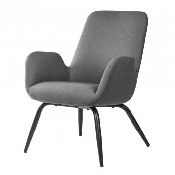 Sillón diseño contemporaneo color gris oscuro 65x69x84h