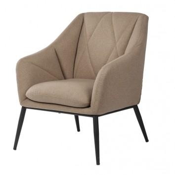 Sillón diseño contemporaneo tono marrón taupe 68x70x80h