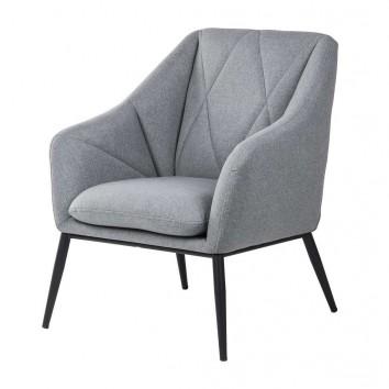 Sillón diseño contemporaneo tono gris claro 68x70x80h