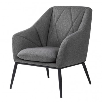 Sillón diseño contemporaneo tono gris oscuro 68x70x80h