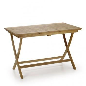 Mesa plegable de jardín madera de teca - 120x70x76h