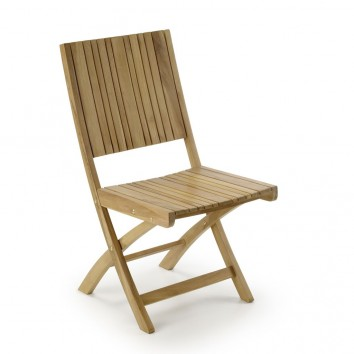 Silla de exterior madera de teca  - 45x45x90h