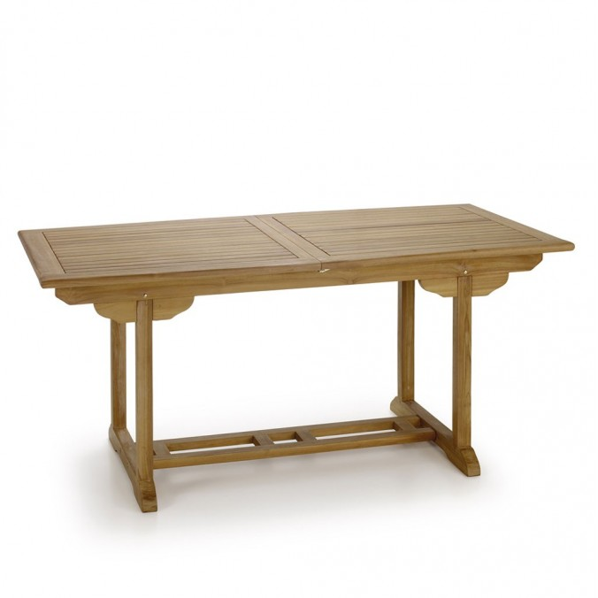 Mesa de jardín madera de teca extensible - 170-220cm