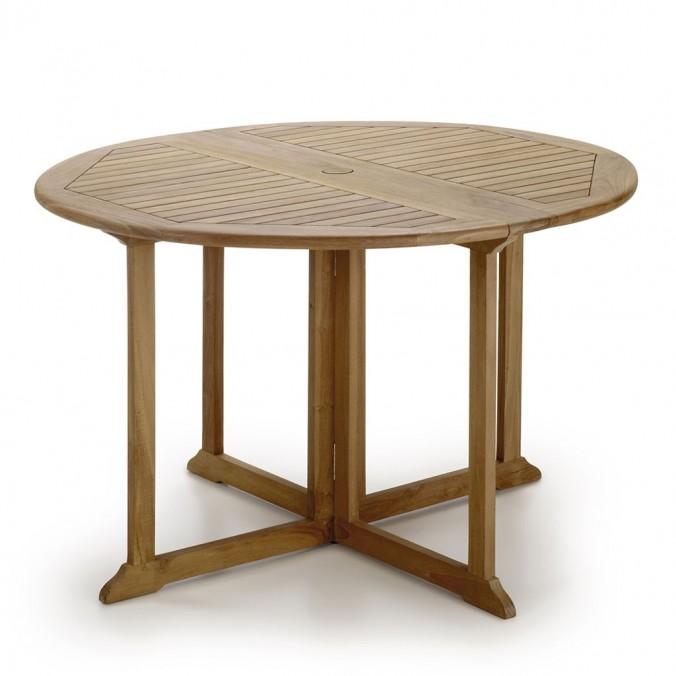 Mesa plegable redonda madera de teca - 120x120x76h