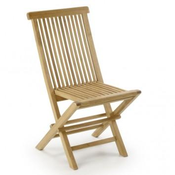 Silla de jardín plegable madera de teca  - 47x60x90h