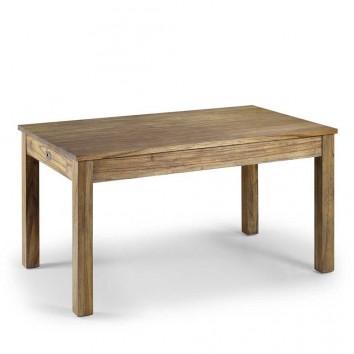 Mesa de comedor fija de estilo colonial 150x90x78h