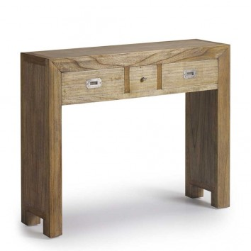 Cosonla de estilo colonial madera mindi 100x30x80h