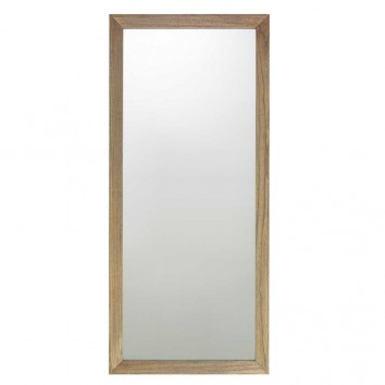 Espejo de pared marco madera de mindi  80x180h