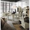 Mesa de comedor extensible estilo rústico 160-220cm x 90cm