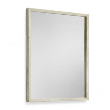 Espejo marco madera mindi tono crudo 80x100cm