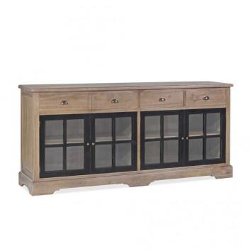 Buffet de estilo provenzal madera maciza 200x47x90h