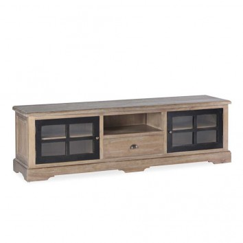 Mueble TV estilo provenzal madera maciza 170x42x50h