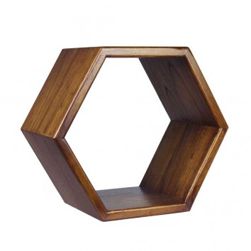 Estantería de pared hexagonal 40x25x40h