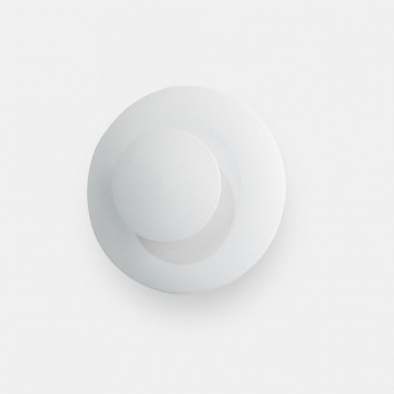Mini percha de pared blanco con luz LED