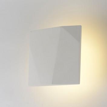 Aplique pared de yeso 19x19cm luz LED 12,5W