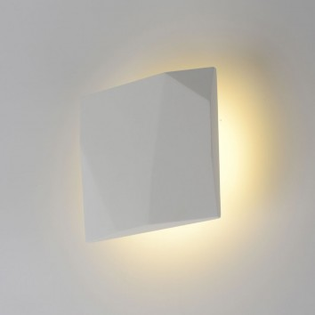 Aplique pared de yeso 15x15cm luz LED 10W