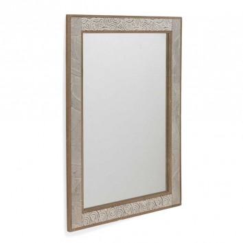 Espejo de estilo rústico vintage frente relieve  60x80cm
