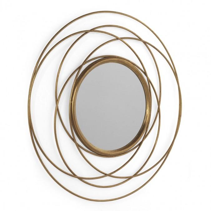 Espejo de metal estilo Art decó 89cm diámetro
