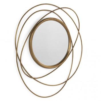 Espejo de metal estilo Art decó 84x76cm