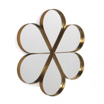 Espejo de metal pétalos estilo Art decó 84x76cm