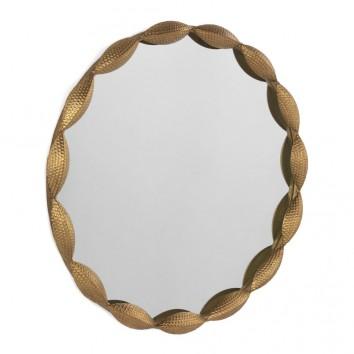 Espejo de metal estilo Art decó 74cm diámetro
