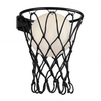 Aplique de pared negro serie Basketball