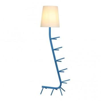 Lámpara de pie diseño serie Centipede azul