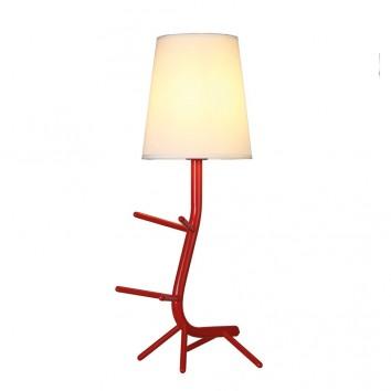 Lámpara de mesa diseño serie Centipede rojo