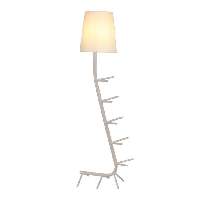 Lámpara de pie diseño serie Centipede blanco