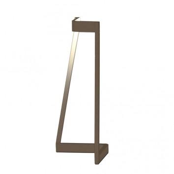 Lámpara de mesa Minimal tono savia con luz LED