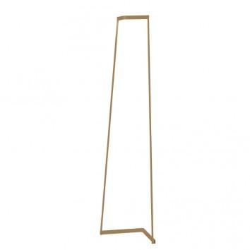 Lámpara de pie Minimal tono dorado con luz LED